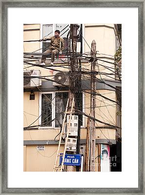 Safe Working At Heights 01 Framed Print by Rick Piper Photography