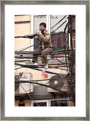 Safe Working At Heights 02 Framed Print by Rick Piper Photography