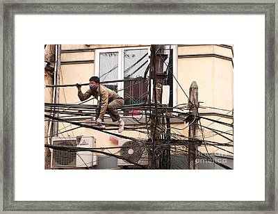 Safe Working At Heights 03 Framed Print by Rick Piper Photography