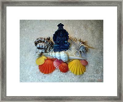 Safeguard Symbol Seashells Framed Print by Hanza Turgul