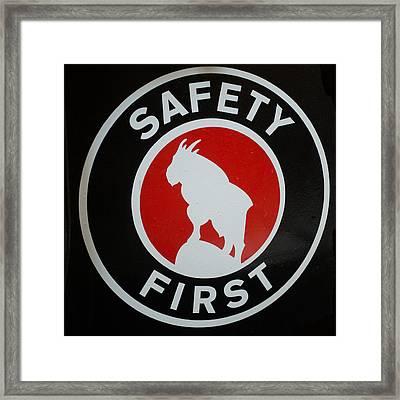 Safety First Framed Print by Paul Freidlund