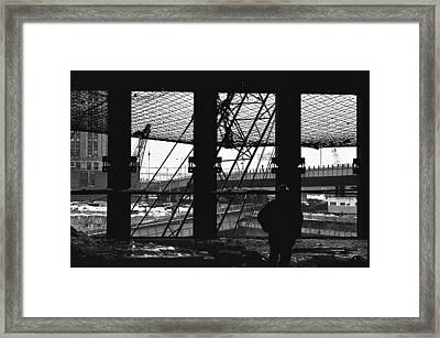 Safety Net Wtc   Framed Print