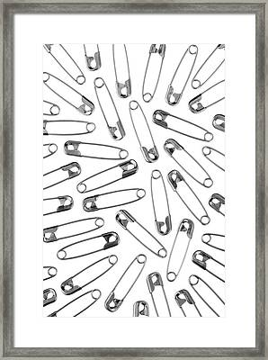 Safety Pins Framed Print