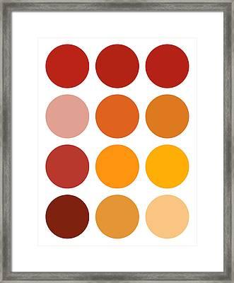 Saffron Colors Framed Print