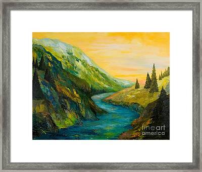 Saffron Sky Framed Print by Larry Martin