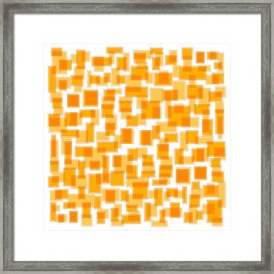 Saffron Yellow Abstract Framed Print