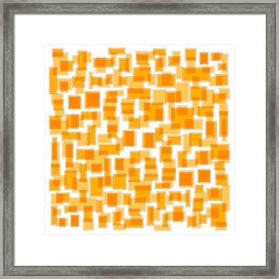 Saffron Yellow Abstract Framed Print by Frank Tschakert
