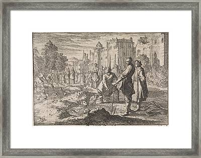 Safi, The Shah Of Persia, Buries Forty Of His Harem Women Framed Print by Johann David Zunnern