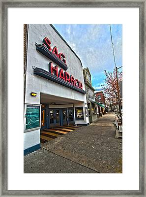 Sag Harbor Theater Framed Print