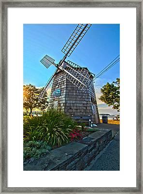 Sag Harbor Windmill Framed Print