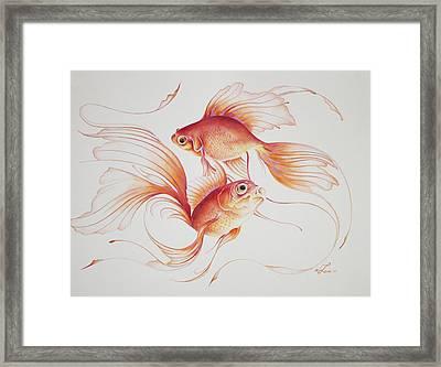 Sagaku Framed Print