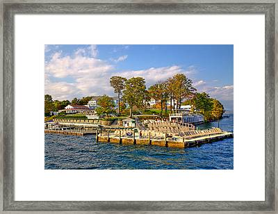 Sagamore Hotel - Lake George Framed Print by David Patterson