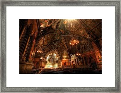 Sage Chapel - Cornell Framed Print by Georgia Fowler