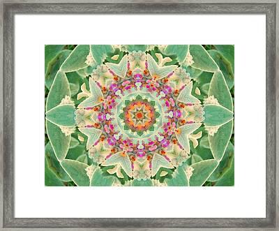 Sage Flower Mandala Framed Print