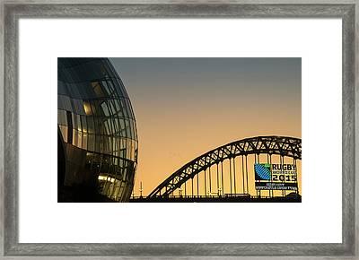Sage Gateshead And The Tyne Bridge Framed Print by John Short