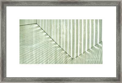 Sage Green Line Light Framed Print by Marsha Heiken