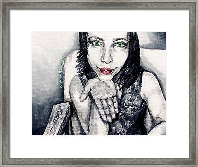 Framed Print featuring the painting Sage by Shana Rowe Jackson