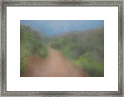 Sagebrush And Coastal Fog Framed Print by Robin Street-Morris