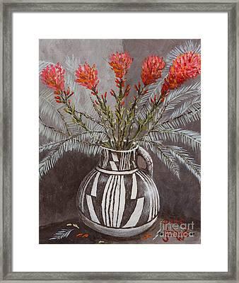 Sagebrush And Paint Brushes Framed Print by John Redding