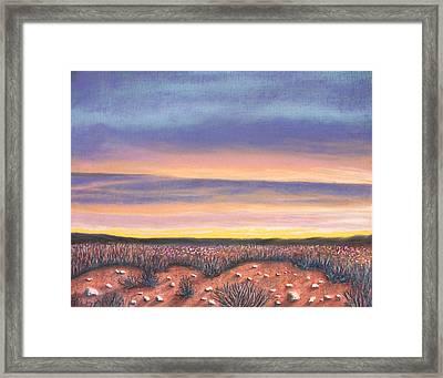 Sagebrush Sunset A Framed Print