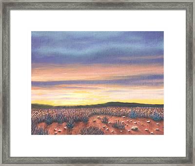 Sagebrush Sunset B Framed Print