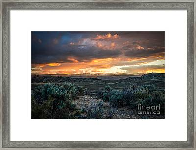 Sagebrush Sunset Framed Print