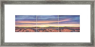 Sagebrush Sunset Triptych Framed Print