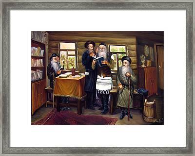 Sages Framed Print by Haim Buhel