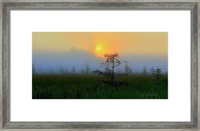 Saginaw Sunrise Framed Print by Gregory Israelson