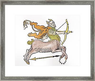 Sagittarius An Illustration Framed Print by Italian School