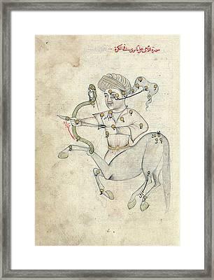 Sagittarius Constellation Framed Print by Library Of Congress