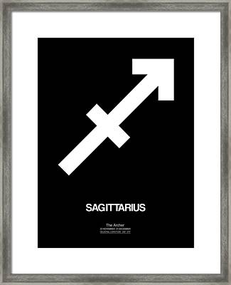 Sagittarius Zodiac Sign White Framed Print