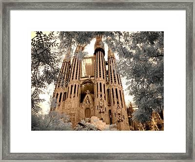 Sagrada Familia Framed Print by Jane Linders