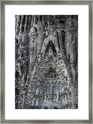 Sagrada Familia Nativity Facade Framed Print