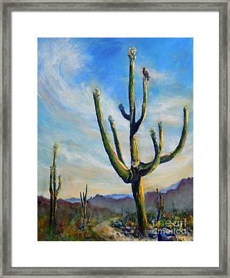 Saguaro Cacti Framed Print
