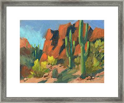 Saguaro Cactus 1 Framed Print by Diane McClary