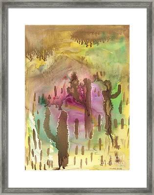 Saguaro Desert Framed Print
