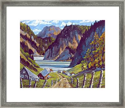 Saguenay Summer By Prankearts Framed Print