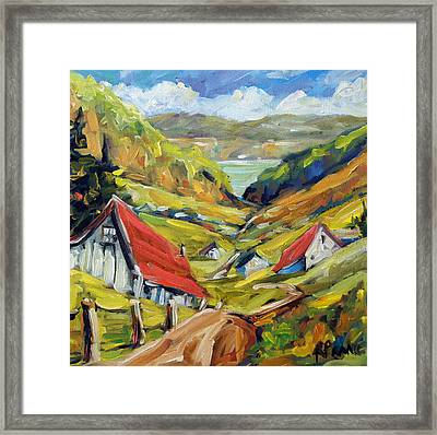 Saguenay Valley By Prankearts Framed Print