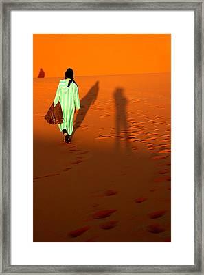 Sahara Desert Bedouin Framed Print by Arie Arik Chen