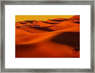 Sahara Story Framed Print by Midori Chan