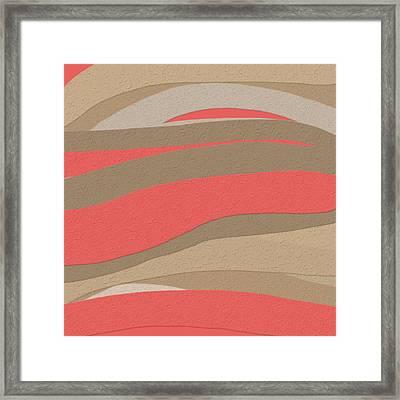 Sahara Sunset Framed Print by Bonnie Bruno