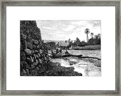 Saharan Oasis Framed Print by Science Photo Library