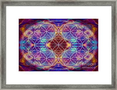 Sahasrara Abstract Chakra Art By Omaste Witkowski Framed Print