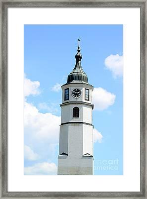 Sahat Kula At Kalemegdan Fortress In Belgrade Ser Framed Print by Aleksandar Mijatovic