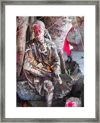 Sai Baba - Resting At Pushkar Framed Print by Agnieszka Ledwon