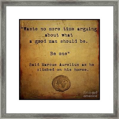 Said Marcus Aurelius Framed Print by Cinema Photography