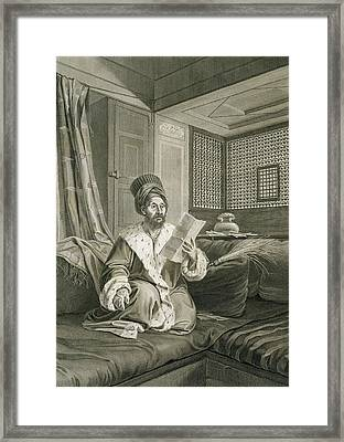 Said Mustapha Pasha Wounded Framed Print by Andre Dutertre