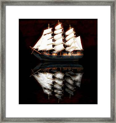 Sail Away Framed Print by Aaron Berg