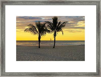 Sail Away At Dawn Framed Print
